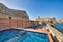 Valletta House - Pool Area - Luxury Villas Malta