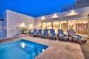 Villa Gaia Pool Area Evening